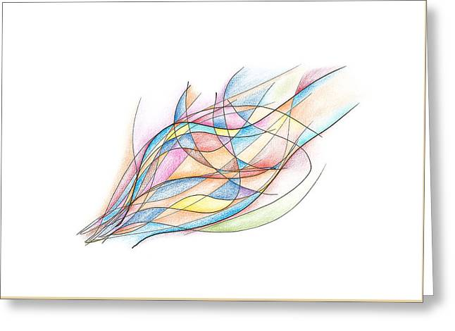 Beige Abstract Greeting Cards - Joyful Bliss Greeting Card by Alla Ilencikova