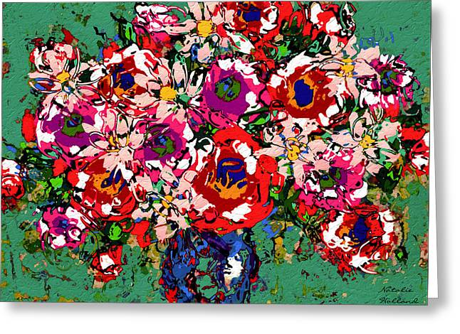 Designers Choice Mixed Media Greeting Cards - Joyful Floral Greeting Card by Natalie Holland