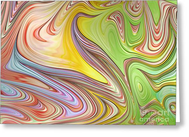 Abstract Shapes Greeting Cards - Joyful Flow Greeting Card by John Edwards
