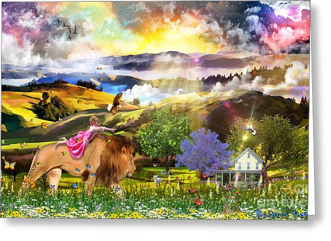 Joyful Journey  Greeting Card by Dolores Develde