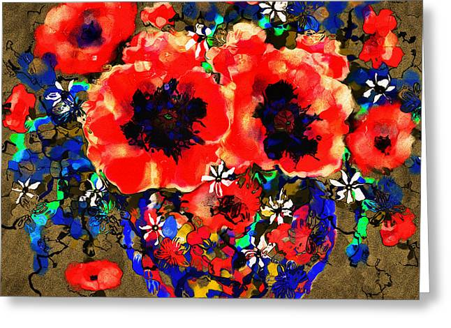 Joyful Poppies Greeting Card by Natalie Holland