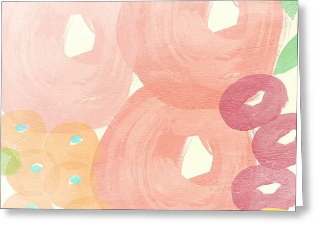 Joyful Rose Garden Greeting Card by Linda Woods