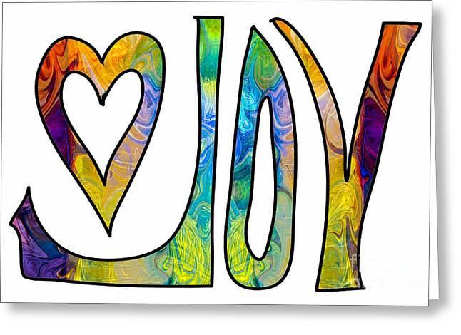 Owfotografik Drawings Greeting Cards - Joyous Abstract Inspirational Artwork by Omaste Witkowski Greeting Card by Omaste Witkowski