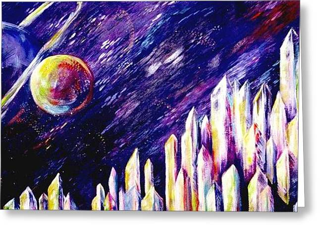 Outerspace Greeting Cards - Joyride Greeting Card by Melody Horton Karandjeff