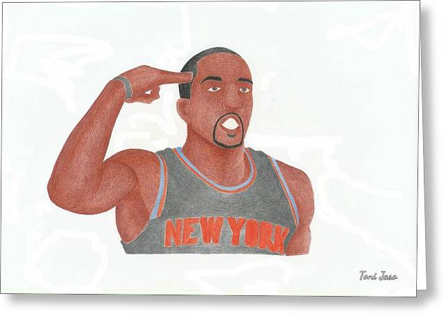Knicks Drawings Greeting Cards - J.R Smith Greeting Card by Toni Jaso