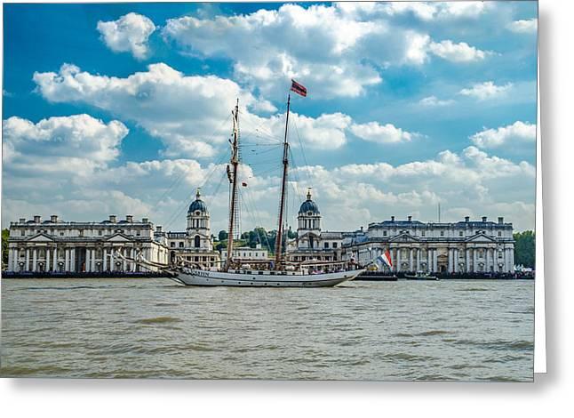 Tall Ships Greeting Cards - JR Tolkien Sailing Ship Greeting Card by Savash Djemal