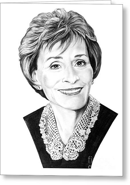 Judge Judith Sheindlin Greeting Card by Murphy Elliott