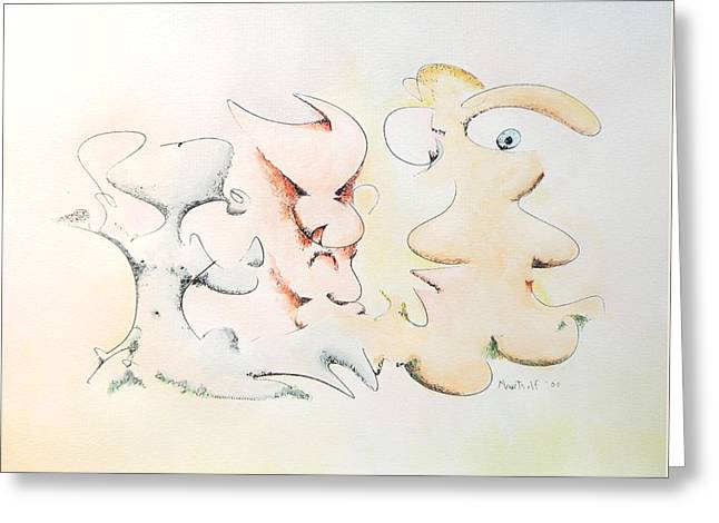Judging Picasso Greeting Card by Dave Martsolf