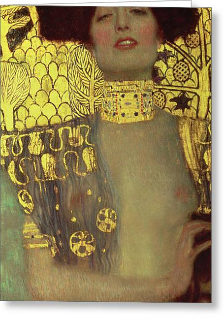 Klimt Greeting Cards - Judith Greeting Card by Gustav Klimt