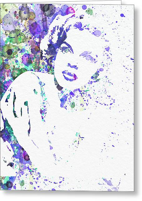 Film Watercolor Greeting Cards - Judy Garland Greeting Card by Naxart Studio