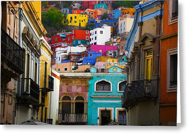 Juegos In Guanajuato Greeting Card by Skip Hunt