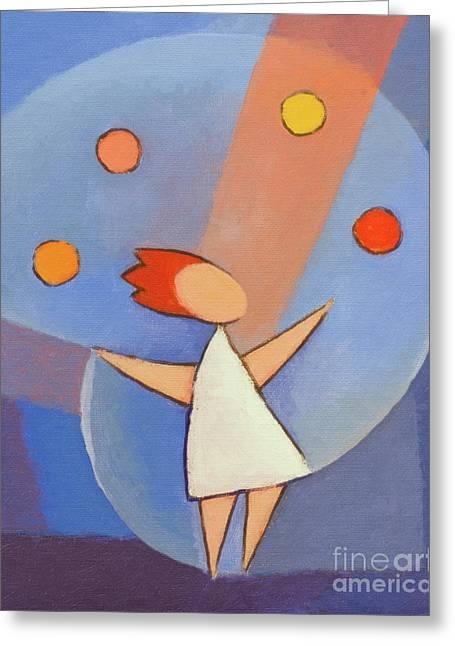 Juggling Greeting Cards - Juggler Greeting Card by Lutz Baar