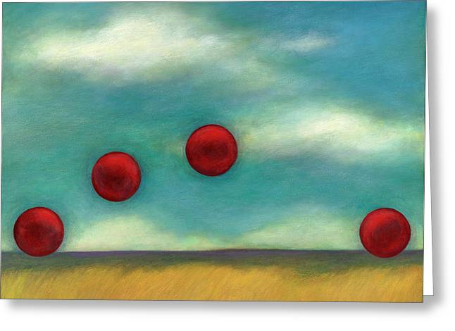 Juggling l Greeting Card by Katherine DuBose Fuerst