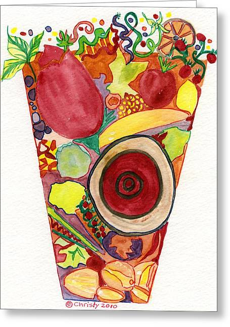 Juice Ecstasy Greeting Card by Christy Woodland