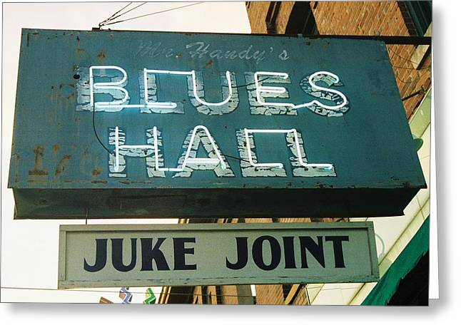 Sign Photographs Greeting Cards - Juke Joint Greeting Card by Jame Hayes
