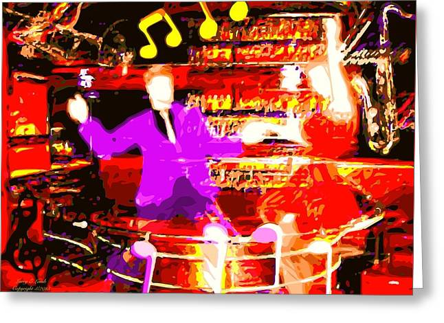 Art For The Dancer Greeting Cards - Juke Joint Saturday Night Greeting Card by Larry E Lamb