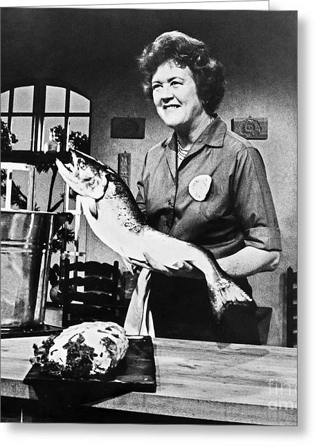 Hostess Greeting Cards - Julia Child (1912-2004) Greeting Card by Granger