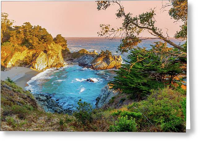 Julia Pfeiffer Burns State Park Mcway Falls Greeting Card by Scott McGuire