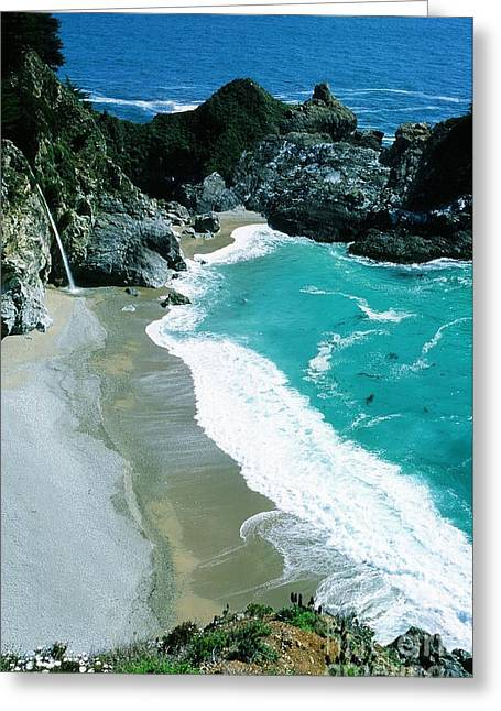 Best Sellers -  - Pfeiffer Beach Greeting Cards - Julia Pfeiffer Burns State Park Greeting Card by Ronnie Glover