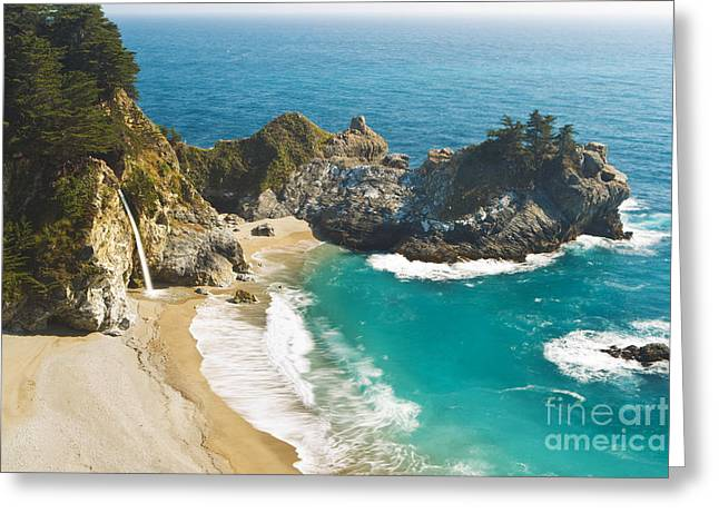 Ocean Vista Greeting Cards - Julia Pfeiffer State Park Greeting Card by MakenaStockMedia - Printscapes