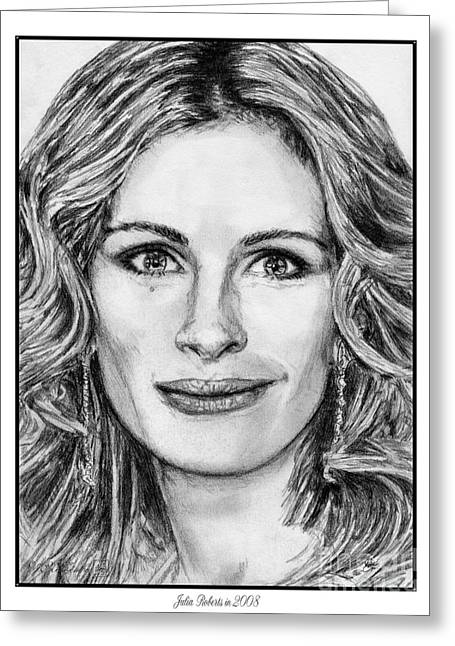Mccombie Greeting Cards - Julia Roberts in 2008 Greeting Card by J McCombie