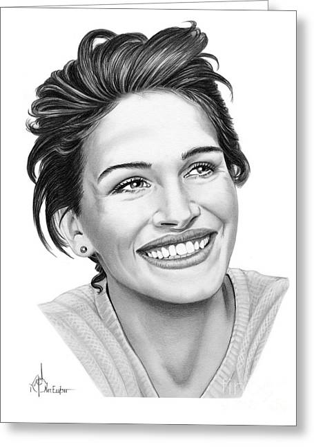 Julia Roberts Greeting Card by Murphy Elliott
