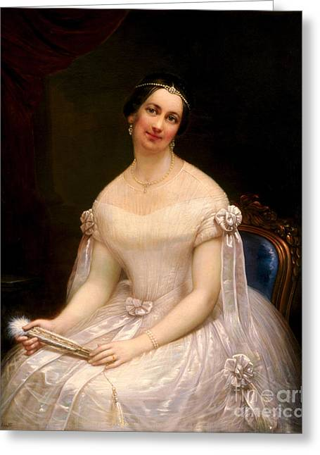 Julia Tyler, First Lady Greeting Card by Science Source