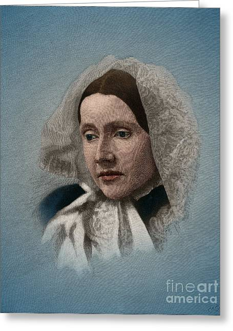 Julia Ward Howe, American Abolitionist Greeting Card by Science Source
