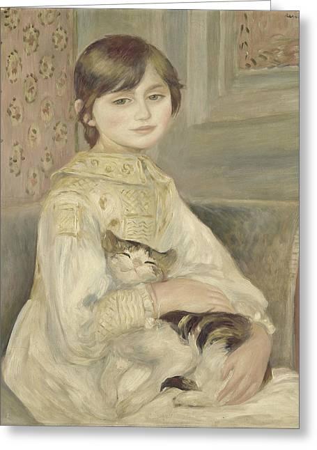 Renoir Greeting Cards - Julie Manet Greeting Card by Auguste Renoir
