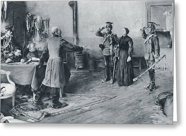 Bravery Greeting Cards - Juliette Dodu 1848 To 1909. French Spy Greeting Card by Ken Welsh