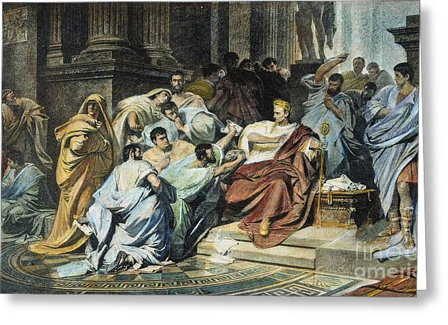 Junius Greeting Cards - Julius Caesar (100-44 B.c.) Greeting Card by Granger