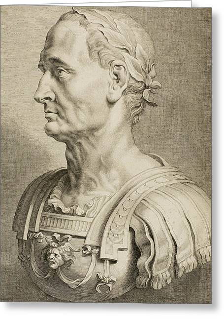 Julius Caesar Greeting Card by Boetius Adams Bolswert