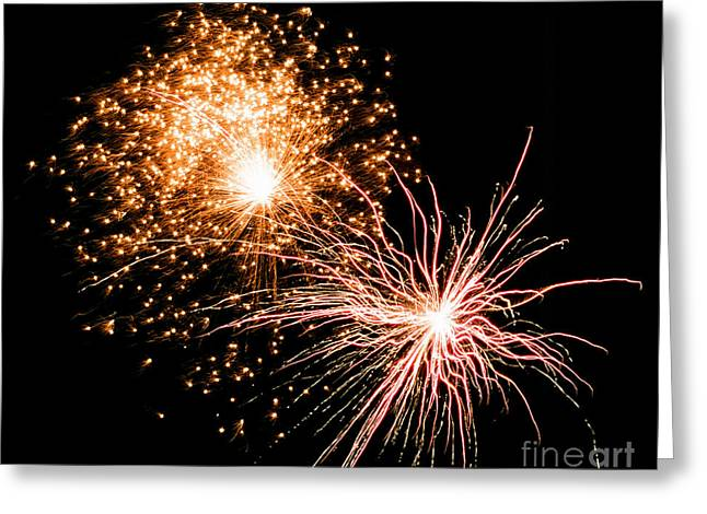 4th July Greeting Cards - July 4th Fireworks - 2 Greeting Card by Ethan Haddad