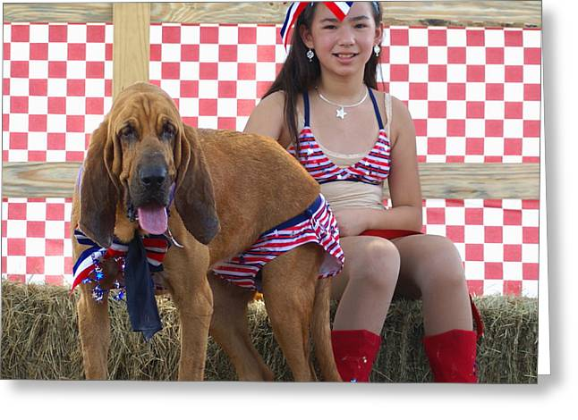 Fineartamerica Greeting Cards - jULY 4TH GALS Greeting Card by Debbie May