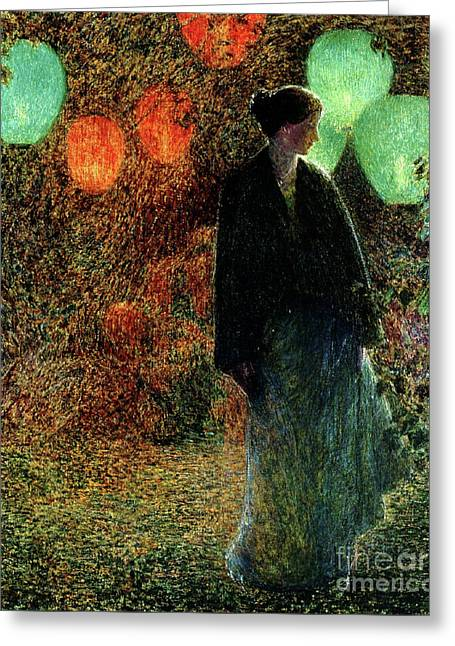 July Night Greeting Card by Childe Hassam