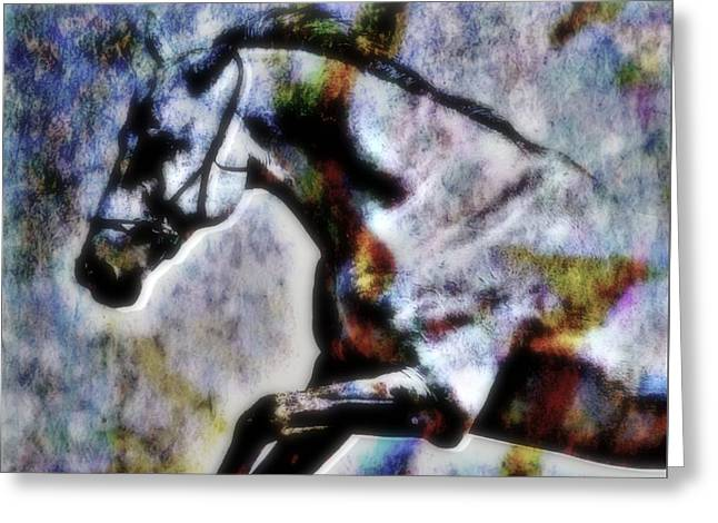 Horse Lover Pastels Greeting Cards - Jump Greeting Card by Wbk