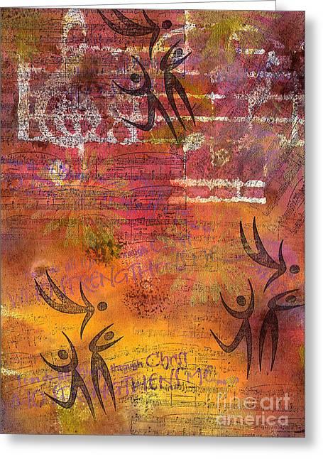 Survivor Art Greeting Cards - Jumping for JOY Greeting Card by Angela L Walker
