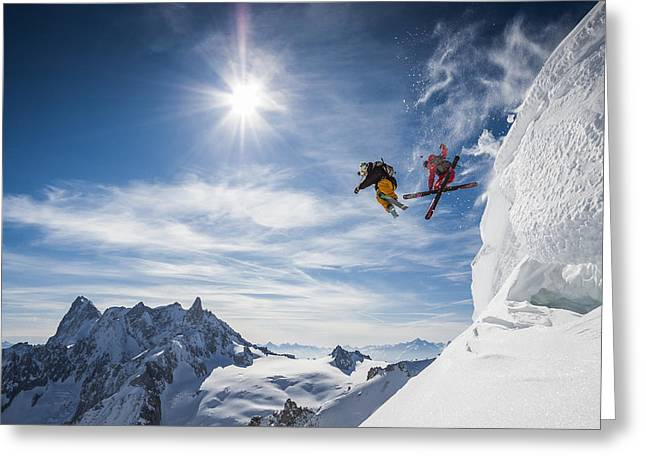Canon 7d Greeting Cards - Jumping Legends Greeting Card by Tristan Shu