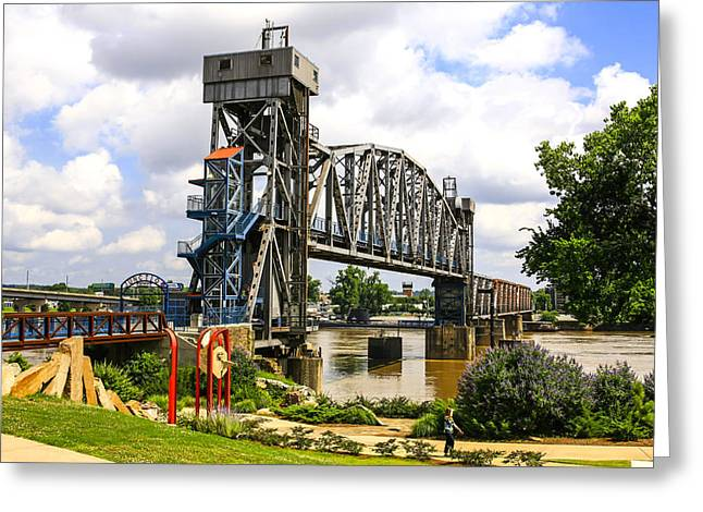 Famous Bridge Greeting Cards - Junction Bridge Little Rock Greeting Card by Chris Smith