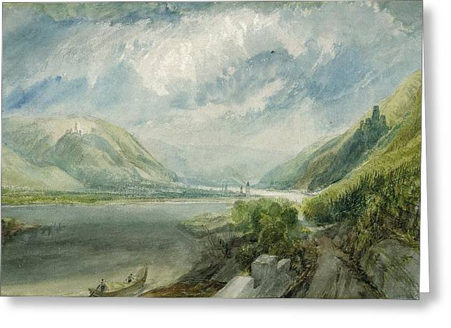Mountain Fork Greeting Cards - Junction of the Lahn Greeting Card by Joseph Mallord William Turner