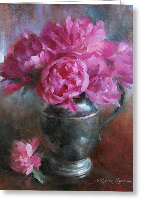 June Bouquet Greeting Card by Anna Rose Bain