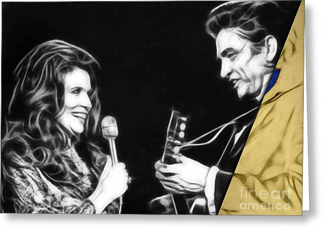 June Carter And Johnny Cash Collection Greeting Card by Marvin Blaine