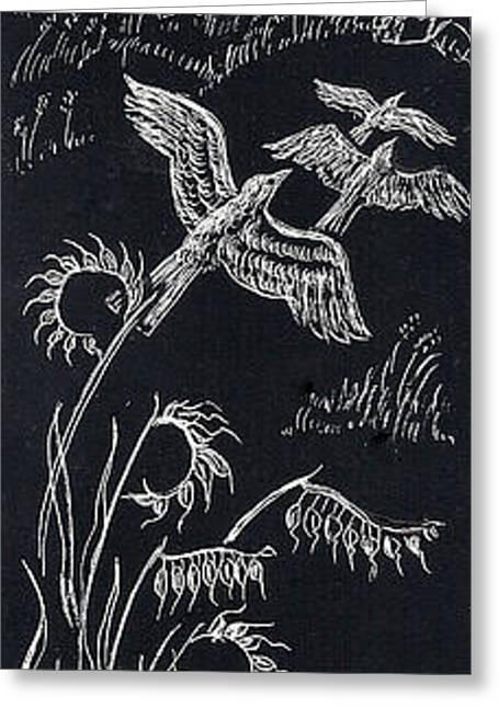 Primroses Drawings Greeting Cards - June in the Cedar Breaks Greeting Card by Dawn Senior-Trask