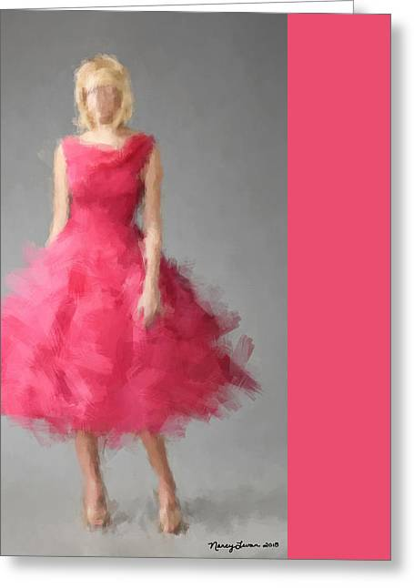 Fashion Art For Print Greeting Cards - June Greeting Card by Nancy Levan