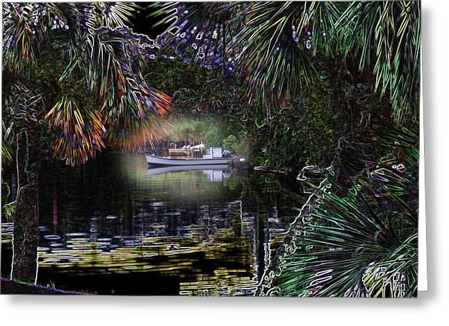 Rick Mckinney Greeting Cards - Jungle Glow Greeting Card by Rick McKinney