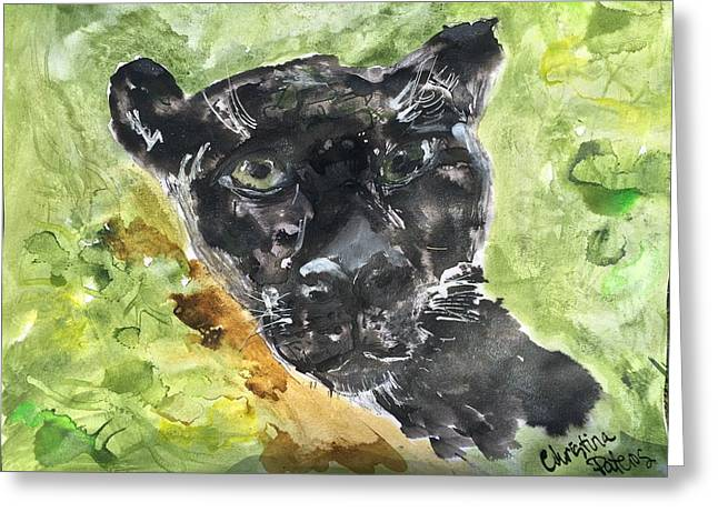 Jaguars Greeting Cards - Jungle Jaguar Greeting Card by Christina Pateros