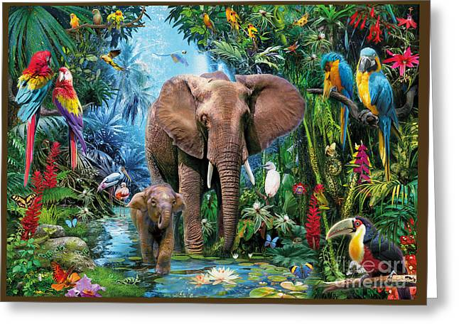 Lush Colors Greeting Cards - Jungle Greeting Card by Jan Patrik Krasny