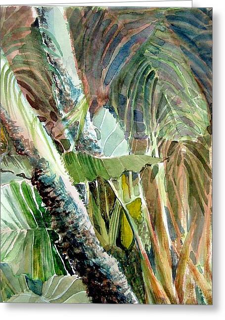 Palm Tree Greeting Cards Greeting Cards - Jungle Light Greeting Card by Mindy Newman