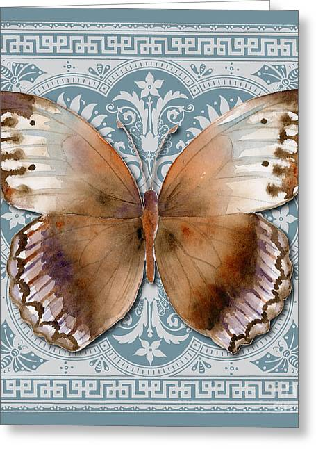 Dusty Blue Greeting Cards - Jungle Queen Butterfly Design Greeting Card by Amy Kirkpatrick