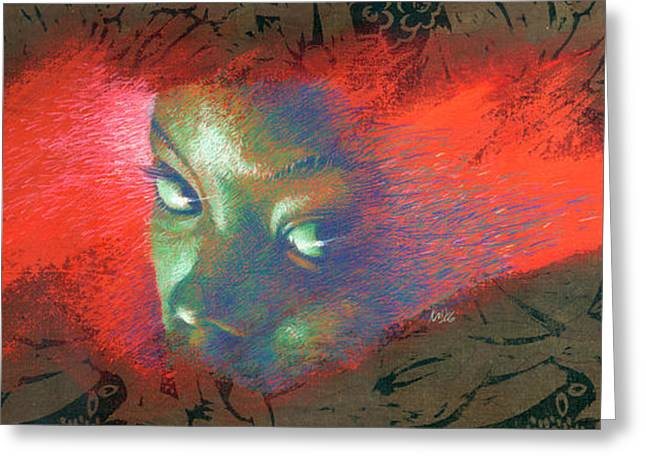 African-american Greeting Cards - Junglevision Greeting Card by Ken Meyer jr